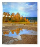 Autumn Puddles Fleece Blanket
