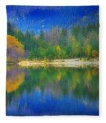 Autumn Reflected 2 Fleece Blanket