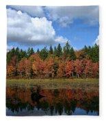Autumn Reflection Fleece Blanket