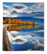 Autumn Reflections In October Fleece Blanket