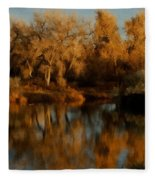 Autumn Reflections Painterly Fleece Blanket