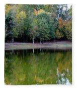 Autumn Reflections Upon Dark Waters Fleece Blanket