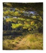 Autumn Scene Of The Little Manistee River In Michigan No. 0882 Fleece Blanket