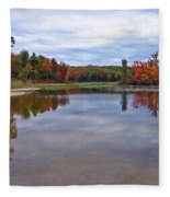 Autumn Shoreline Fleece Blanket