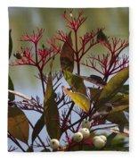 Autumn Snow Berry Bush Fleece Blanket