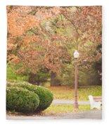Autumn Stroll Fleece Blanket