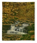 Autumn Surrounded In Color Fleece Blanket