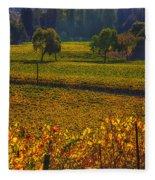Autumn Vineyards Fleece Blanket