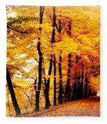 Autumn Walk In Belgium Fleece Blanket