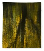 Autumn Water Reflection Abstract I Fleece Blanket