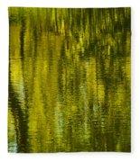Autumn Water Reflection Abstract IIi Fleece Blanket