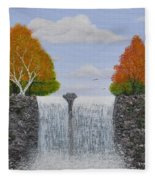 Autumn Waterfall Fleece Blanket
