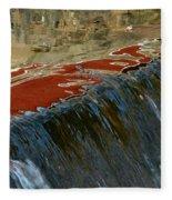 Autumn Waterfall Reflections Fleece Blanket