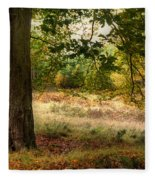 Autumn Woodland Fleece Blanket