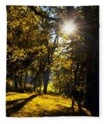 Autumnal Morning Fleece Blanket