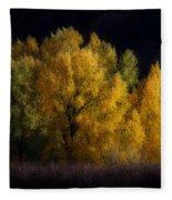 Autumn's Last Hurrah Fleece Blanket