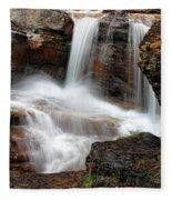 Avalanche Creek - Glacier National Park Fleece Blanket