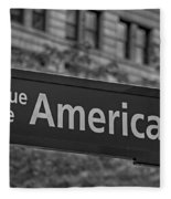 Avenue Of The Americas Fleece Blanket