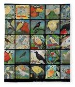 Aviary Poster Fleece Blanket