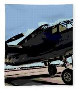 B-25 Bomber Fleece Blanket