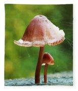 Baby And Parent Mushroom Fleece Blanket
