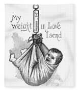 Baby Being Weighed, 1887 Fleece Blanket