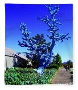 Baby Blue Tree Fleece Blanket
