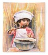 Baby Cook With Chocolade Cream Fleece Blanket