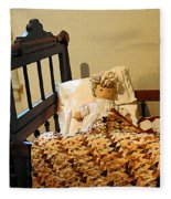 Baby Doll In Crib Fleece Blanket