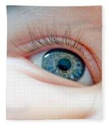 Baby Eye Close-up Of A Blue Eye Fleece Blanket