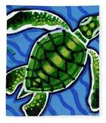 Baby Green Sea Turtle Fleece Blanket