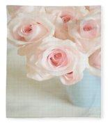 Baby Pink Roses Fleece Blanket