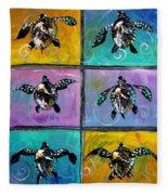 Baby Sea Turtles Six Fleece Blanket