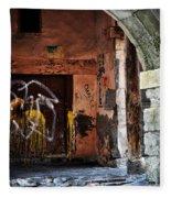 Back Alley In Leon Fleece Blanket