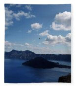 Backside Of Crater Lake Fleece Blanket