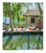 Backwaters India  Fleece Blanket