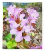 Backyard Blooms Fleece Blanket