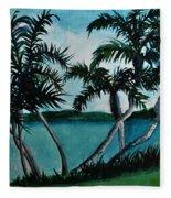 Backyard Palms Fleece Blanket