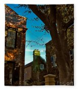 Backyard View Charleston Sc Fleece Blanket