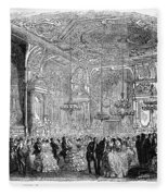 Baden-baden: Salon, 1858 Fleece Blanket