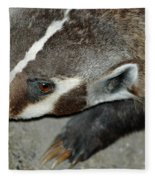 Badger On The Loose Fleece Blanket