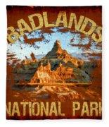 Badlands National Park Fleece Blanket