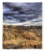 Badlands Of South Dakota Fleece Blanket