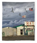 Bait Shop By Aransas Pass In Texas Fleece Blanket