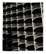Balconies Bw Fleece Blanket