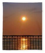 Balcony Sunrise Fleece Blanket