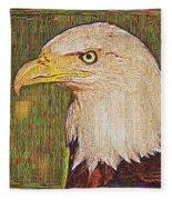 Bald Eagle Embroidered Fleece Blanket