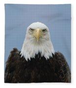 Bald Eagle Haliaeetus Leucocephalus Fleece Blanket