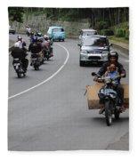 Balinese Transportation Fleece Blanket