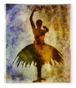 Ballerina 1 With Border Fleece Blanket